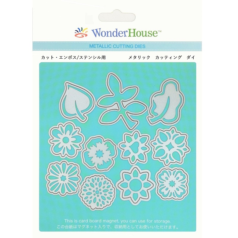 057/WonderHouse/ワンダーハウス/ダイ(抜型)/葉っぱ 花 アイコン モチーフ 11枚入