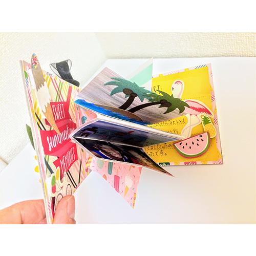 大北美鈴先生「Summer flower イーゼルカード & Pop up ミニ アルバム」8/24開催分スクラップブッキング教室