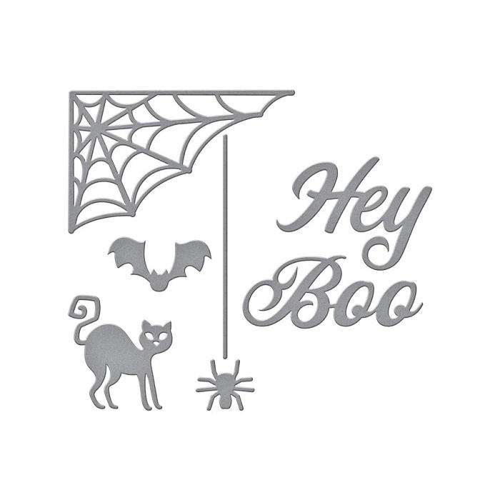 【S3-405】/スペルバインダーズ/ダイ(抜型)/ ハロウィン HEYBOO  猫 クモ コウモリ