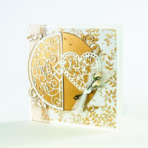 426E/Tonic Studios/トニック・スタジオ/ダイ(抜型)/Indulgence Semis Love and Beautiful Wishes メッセージ セミサークル