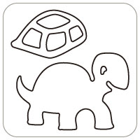 N57-077/WonderHouse/ワンダーハウス/ダイ(抜型)/turtles カメ かめ 亀
