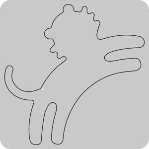 N35-003/WonderHouse/ワンダーハウス/ダイ(抜型)/tiger トラ とら 虎 寅