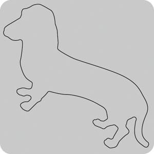 N35-017/WonderHouse/ワンダーハウス/ダイ(抜型)/dog イヌ いぬ 犬 ダックスフント