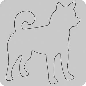 N35-020/WonderHouse/ワンダーハウス/ダイ(抜型)/dog イヌ いぬ 犬 柴犬