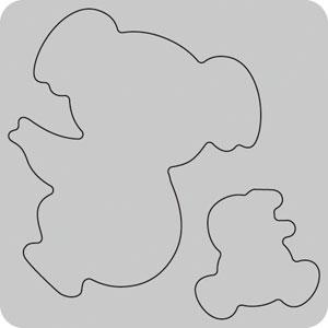 N35-040/WonderHouse/ワンダーハウス/ダイ(抜型)/koala コアラ 親子