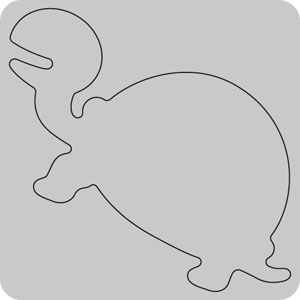 N35-042/WonderHouse/ワンダーハウス/ダイ(抜型)/turtles カメ かめ 亀