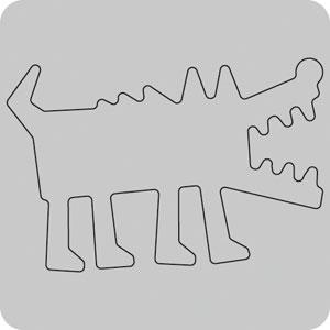 N35-056/WonderHouse/ワンダーハウス/ダイ(抜型)/wolf オオカミ おおかみ 狼