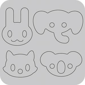 N42-019/WonderHouse/ワンダーハウス/ダイ(抜型)/animals 動物アイコン セット
