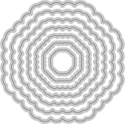 W08-028/WonderHouse/ワンダーハウス/ダイ(抜型)/ネスティング 八角形 オクタゴン レイヤー