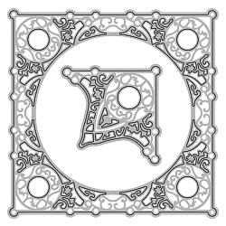 6002-0173/Joy! Crafts/ジョイ・クラフツ/ダイ(抜型)/Square + corner 正方形のフレーム コーナー