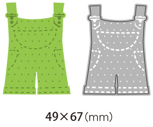 6002-0208/Joy! Crafts/ジョイ・クラフツ/ダイ(抜型)/Overalls オーバーオール