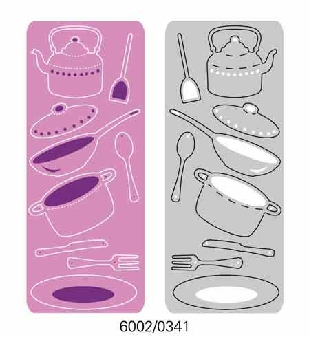 6002-0341/Joy! Crafts/ジョイ・クラフツ/ダイ(抜型)/Crockery set キッチンツール