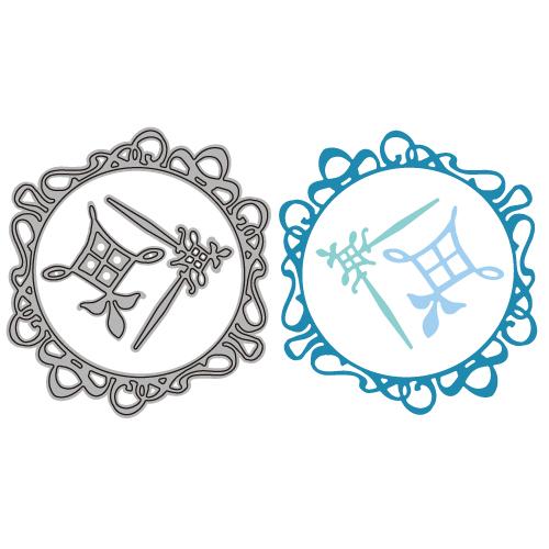 6002-0482/Joy! Crafts/ジョイ・クラフツ/ダイ(抜型)/Circle - round- corner フレーム コーナー