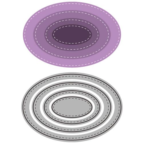 6002-0490/Joy! Crafts/ジョイ・クラフツ/ダイ(抜型)/Oval オーバル レイヤー