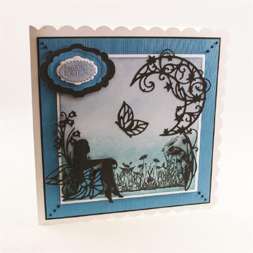 1010E/Tonic Studios/トニック・スタジオ/ダイ(抜型)/Rococo Fairy Bluebell Butterfly 蝶と水仙