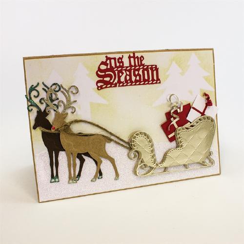 1015E/Tonic Studios/トニック・スタジオ/ダイ(抜型)/Rococo Santa's Sleigh クリスマス サンタ ソリ