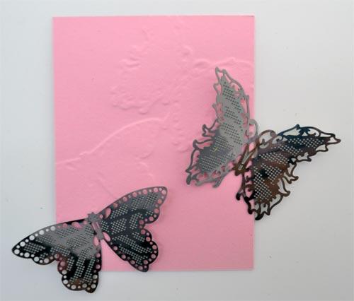 556E/Tonic Studios/トニック・スタジオ/メタルチャーム/Butterfly Boutique Embellishments 蝶 エンベリッシュメント