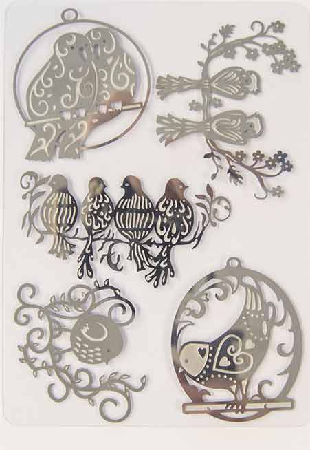 576E/Tonic Studios/トニック・スタジオ/メタルチャーム/Birds on a Branch Embellishments 小鳥 エンベリッシュメント