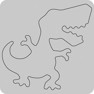 35-053/WonderHouse/ワンダーハウス/スポンジダイ(抜型)/dinosaur 恐竜 ティラノサウルス