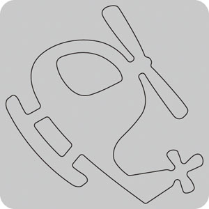 35-107/WonderHouse/ワンダーハウス/スポンジダイ(抜型)/helicopter ヘリコプター
