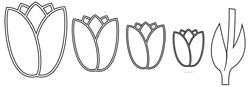 DCF025/ELLENTINA/エレンティーナ/ダイ(抜型)/LACE TULIP チューリップ