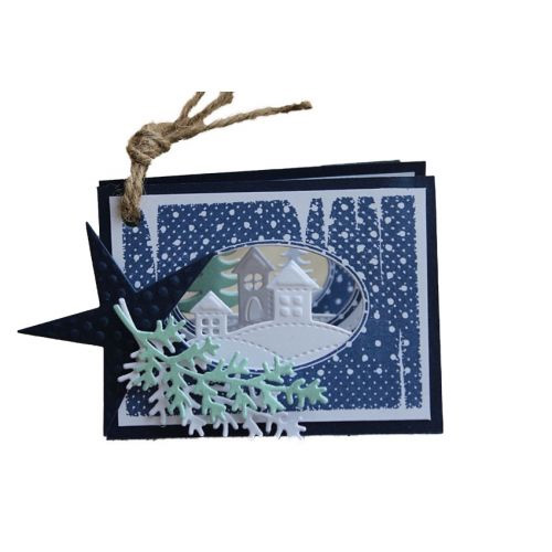 6002-0587/ジョイ・クラフツ/ダイ(抜型)/Trees and House クリスマス 町並み まちなみ 森 木 林