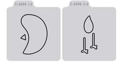 Q2072-C0098D/QuicKutz/クイックカッツ/ダイ(抜型)/2×2 Double Die/bird 鳥