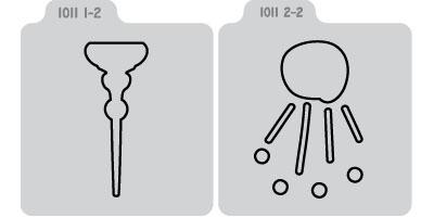 Q2075-KS1011/QuicKutz/クイックカッツ/ダイ(抜型)/2×2 Double Die/pin cushion 針山