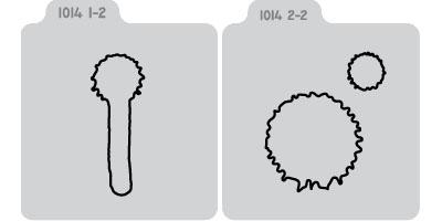 Q2078-KS1014/QuicKutz/クイックカッツ/ダイ(抜型)/2×2 Double Die/paint drips ドロップ