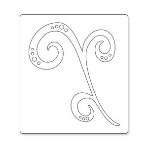 S2045/Sizzix/シジックス/ダイ(抜型)/Bigz Die/Decorative Accent Swirl/蔓