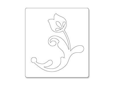 S2059/Sizzix/シジックス/ダイ(抜型)/Bigz Dies/Flower w/ Leaves&Stem by BasicGrey/花 【メール便不可】
