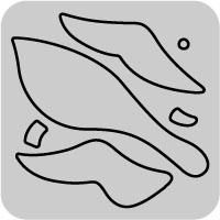 W1144/ワンダーハウス/スポンジダイ(抜型)/migratory bird 渡り鳥 雁 鴨 鳥