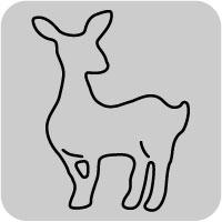 W1291/ワンダーハウス/スポンジダイ(抜型)/bambi バンビ 子鹿