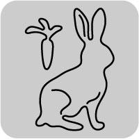 W1294/ワンダーハウス/スポンジダイ(抜型)/rabbit うさぎ ウサギ 兎 卯