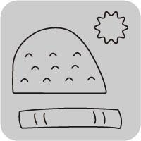 W1353/ワンダーハウス/スポンジダイ(抜型)/knit cap ニット 帽子