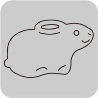 W1385/ワンダーハウス/スポンジダイ(抜型)/rabbit うさぎ ウサギ 兎 卯