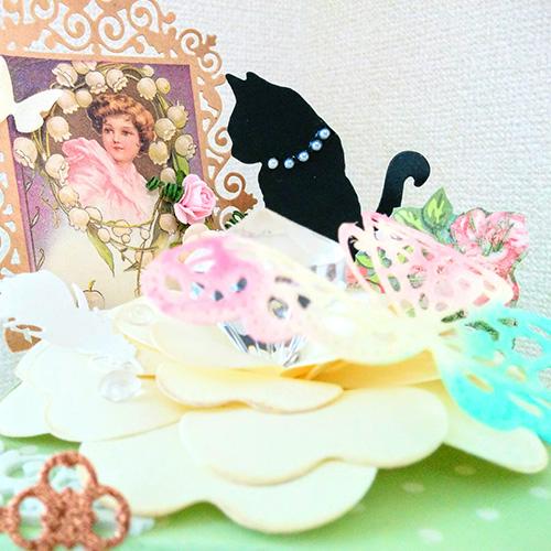 大北美鈴先生「蝶々のトレジャーBOX」1/26開催分スクラップブッキング教室