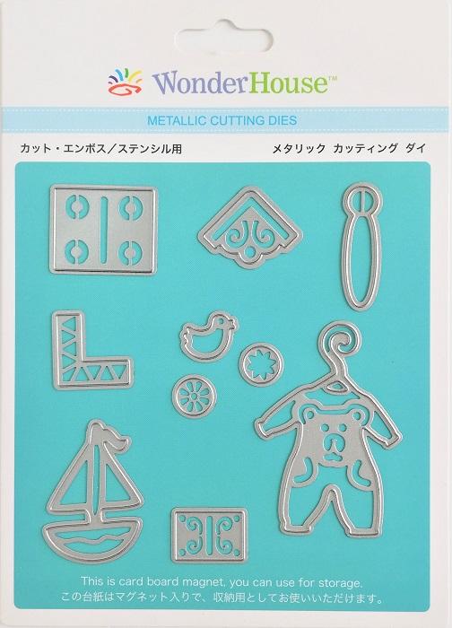 061/WonderHouse/ワンダーハウス/ダイ(抜型)/赤ちゃん ベビー アイコン モチーフ 10枚入