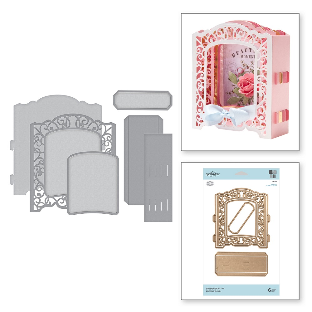 【S6-139】/スペルバインダーズ/ダイ(抜型)/ Elegant  3D Card エレガント3Dカード
