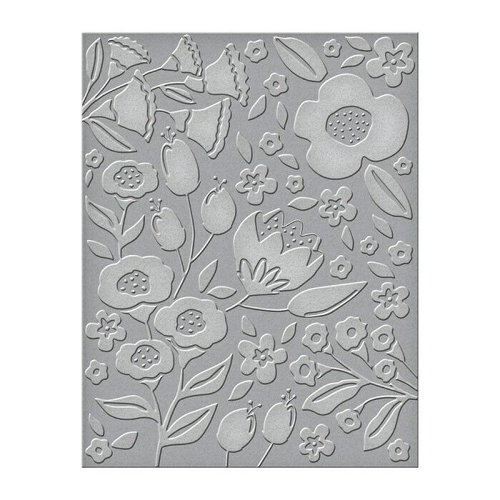 【SES-015】/スペルバインダーズ/ エンボスフォルダー  / 花 フラワー (サイズ  15センチ×11.5センチ)