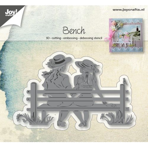 6002-0943/Joy! Crafts/ジョイ・クラフツ/ダイ(抜型)/Friendship bank ベンチ 友達 3D