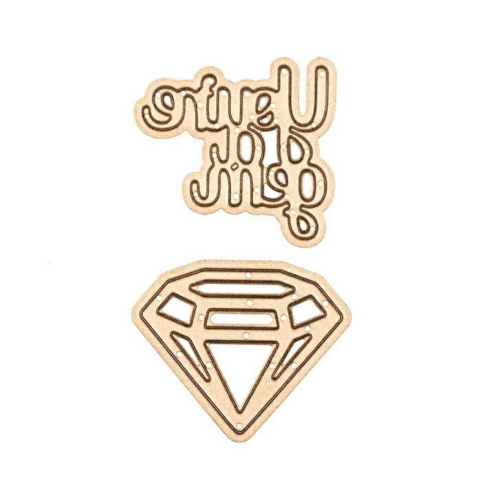 【S1-022】/スペルバインダーズ/ダイ(抜型)/you`re a gem ダイヤモンド 宝石
