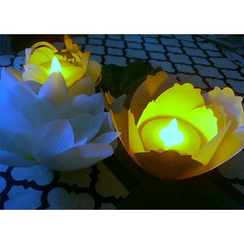 落合才子先生「Waterlilyの花灯りセンターラグ」6/21開催分スクラップブッキング教室