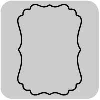 【N42-352】/ワンダーハウス/ダイ(抜型)/ornate rectangle 四角 label ラベル