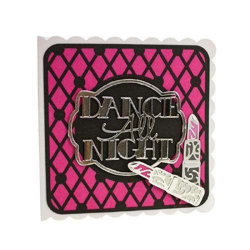 1069E/Tonic Studios/トニック・スタジオ/ダイ(抜型)/Girls Night Out Sentiment Dance All Night テキスト