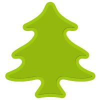 102/WonderHouse/ワンダーハウス/スポンジダイ(抜型)/プチプラ150円 木 クリスマスツリー