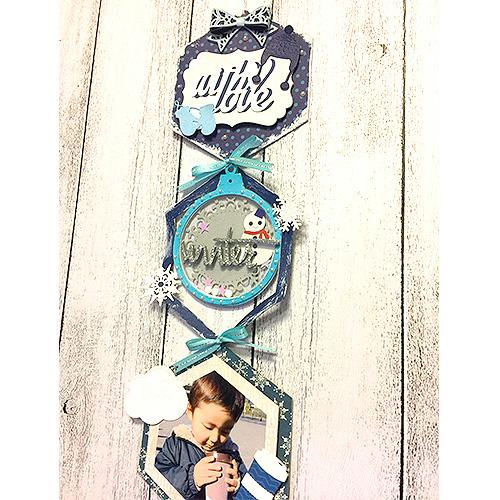高橋千里先生「壁にかけるタイプの壁飾りとミニブックのセット」12/6開催分スクラップブッキング教室