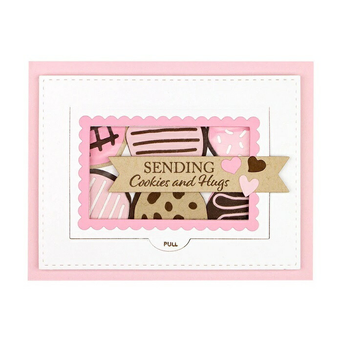 【S4-1094】/スペルバインダーズ/ダイ(抜型)/Sweet Treat Box  オープンアップカード スカラップ ハート you are so sweet