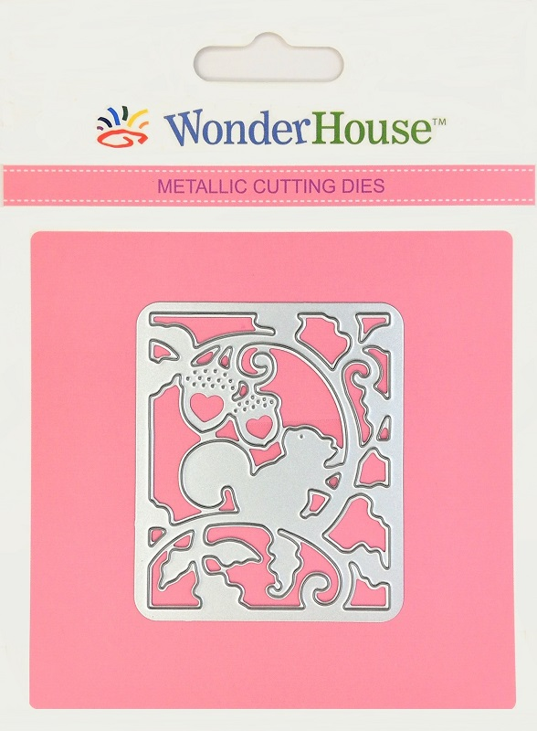 288/WonderHouse/ワンダーハウス/ダイ(抜型)/リス 蔦 どんぐり 森 ランタン