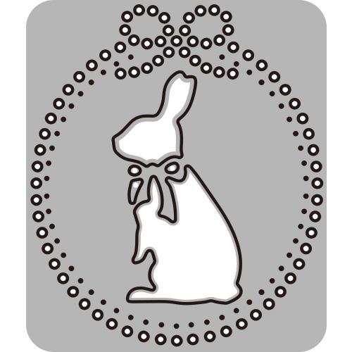290/WonderHouse/ワンダーハウス/ダイ(抜型)/兎 うさぎ ウサギ rabbit ラビット bunny バニー リボン ribbon ランタン